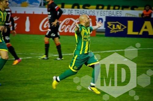 César Carranza fue uno de los mejores en el partido ante Velez  (Foto: Sergio Biale)