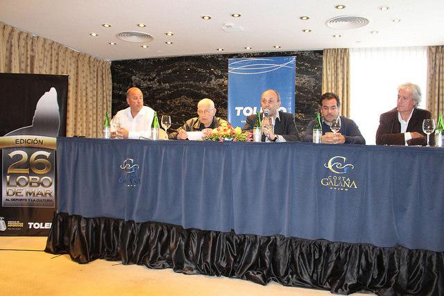 Los encargados de presentar la edición 26 de los Lobo de Mar. (Foto: Prensa Círculo de Periodistas Deportivos)