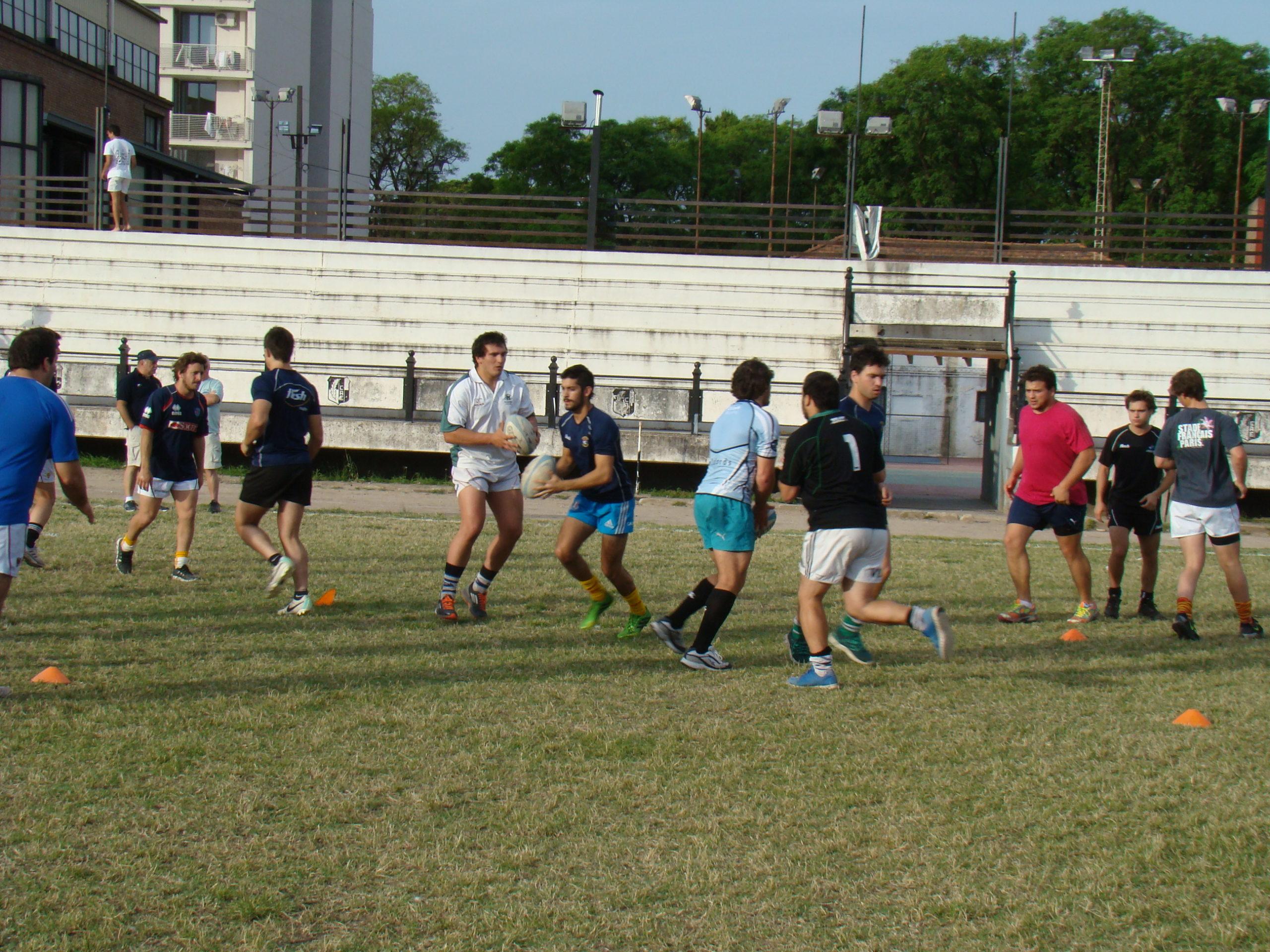 La Selección de la URMDP entrenó antes del partido. (Foto: Prensa URMDP)