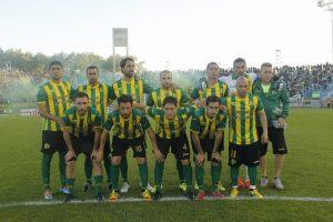 La formación de Aldosivi en el partido de esta tarde. (Foto: Sergio Biale)