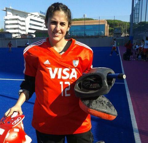 Valentina Mangone antes del partido con el CUS Catania.