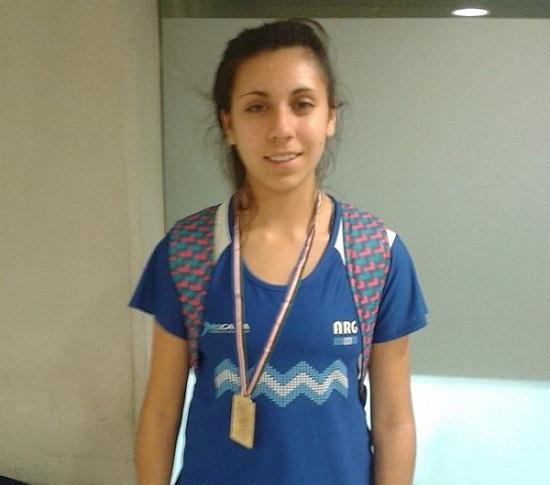 Micaela Levaggi se consagró sub-campeona sudamericana de menores.
