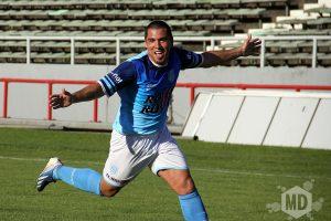 Nicolás Ramírez celebra su gol de tiro libre. (Foto: Carlos De Vita)