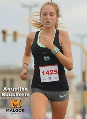 Agustina Boucherie quedó cuarta en los 200 mts con obstáculos.