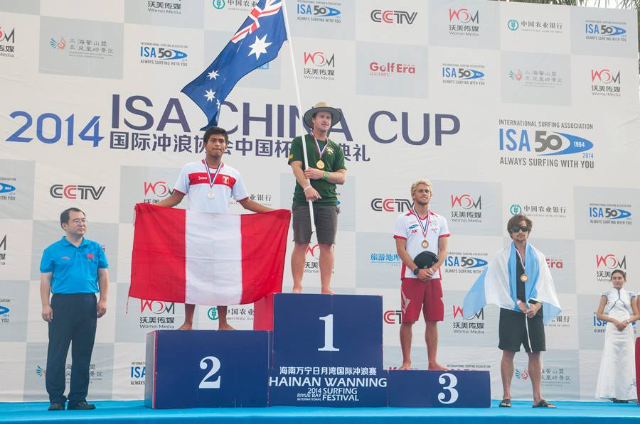Mariano Arreyes hizo un gran trabajo y quedó cuarto en el ISA China Cup
