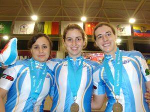 El trío del Atlético Mar del Plata, Natalia Artero, Melisa Bonnet y Silvina Posada.