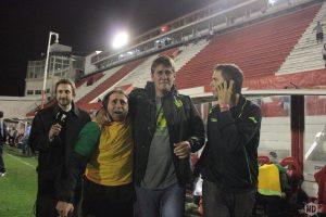 Las lágrimas de Fernando Quiroz al final del partido. (Foto: Diego Roscop - La Mañana de Córdoba)