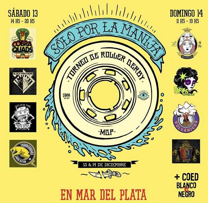 El afiche oficial del Torneo que se realizará en Mar del Plata.