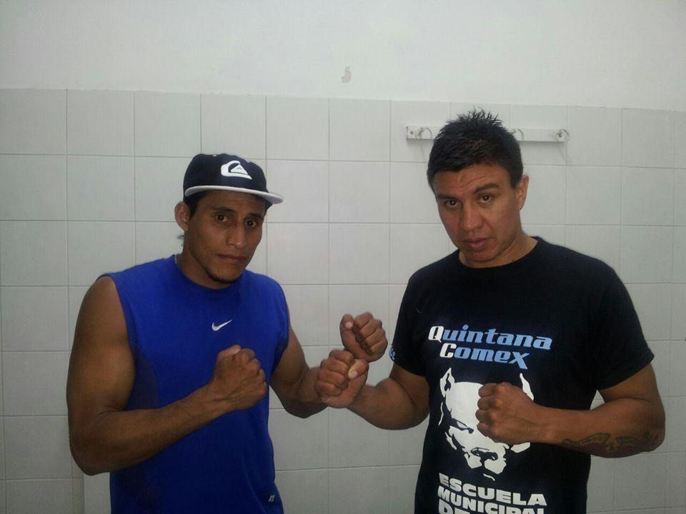 César Reynoso y Claudio Ábalos, los protagonistas del combate de ayer.
