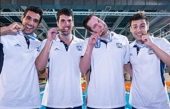 Guido Buscaglia (el primero de derecha a izquierda) junto con sus compañeros de posta. (Foto: Heracles)