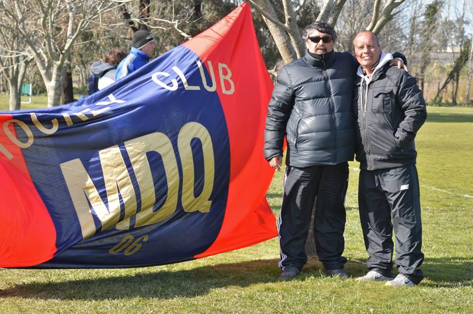 Fabián Rodríguez y Alfredo Puglisi, vice-presidente y presidente de MDQ 06 Hockey Club.