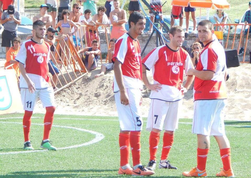 Los jugadores de Mar del Plata antes de empezar el encuentro.