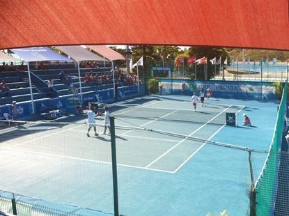 Zeballos no tuvo un buen debut en dobles.
