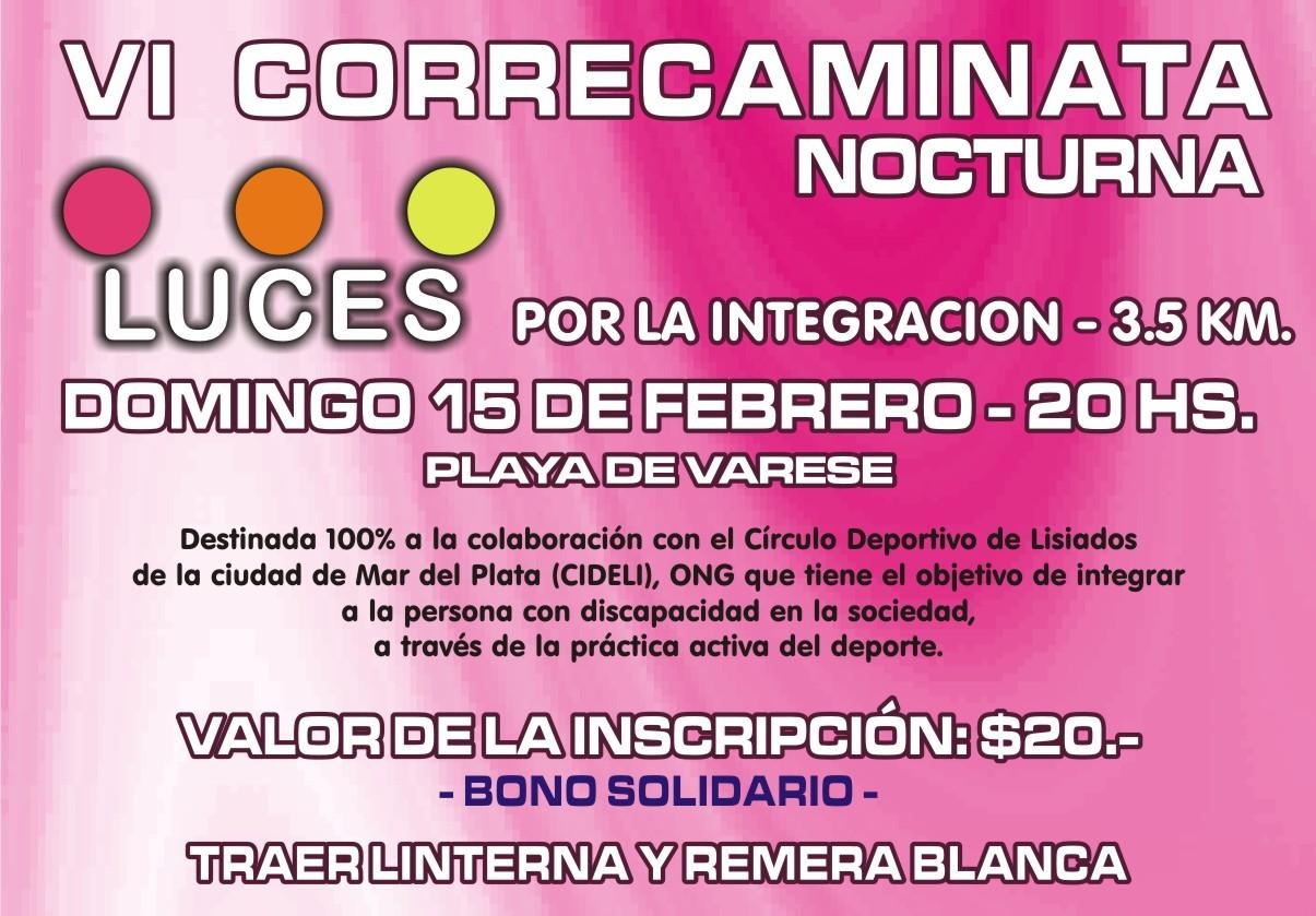 El afiche de la Correcaminata por la Integración.