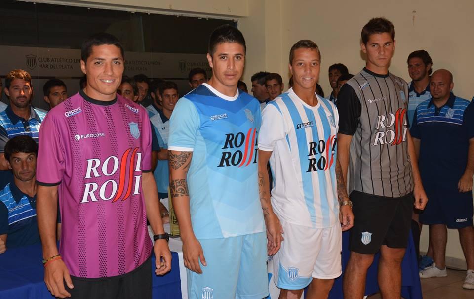 Las camisetas que utilizará Unión en el Torneo Nacional 2015. (Foto: Pedro Celano)