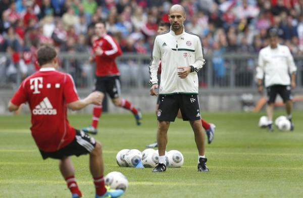 El entrenamiento del Bayern Münich de la mano de Guardiola.