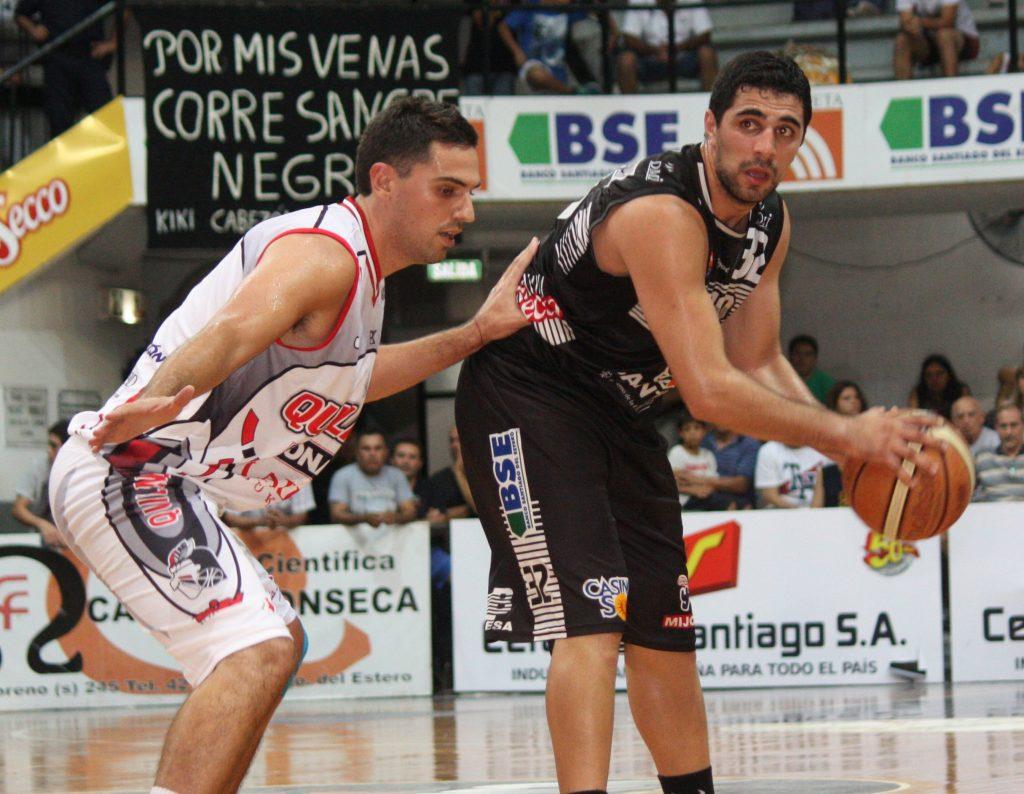 Lucas Ortiz tuvo un buen ingreso en el inicio del juego pero aportó sólo 8 puntos. (Foto: Pasión y Deportes - LNB)