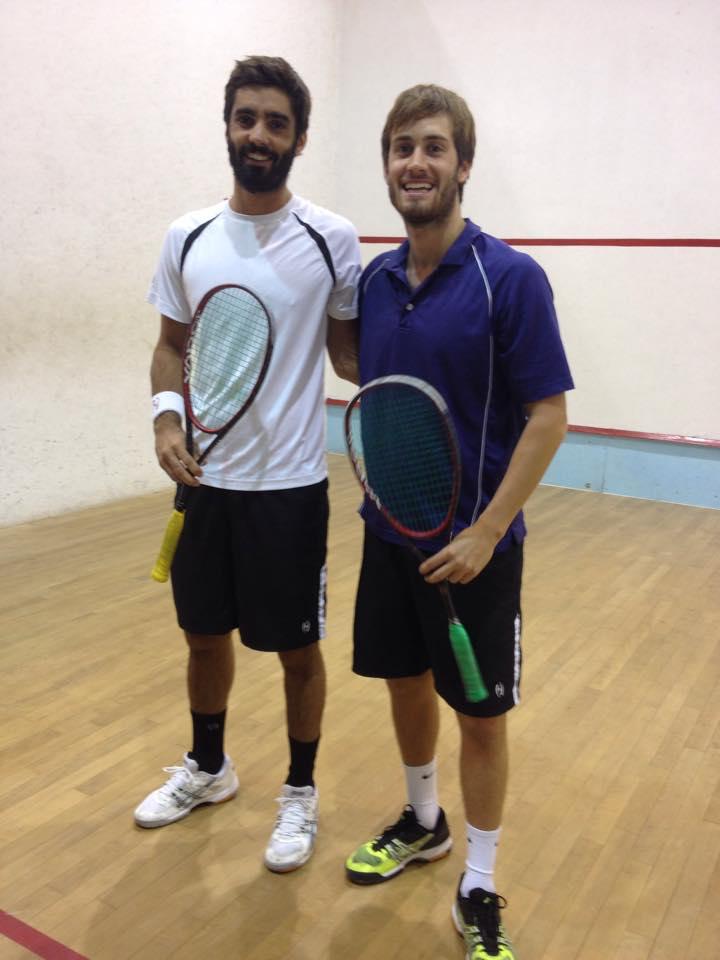 FINALISTAS: Leandro Romiglio y Juan Pablo Roude fueron los finalistas del torneo marplatense que tuvo su primera fecha este fin de semana.