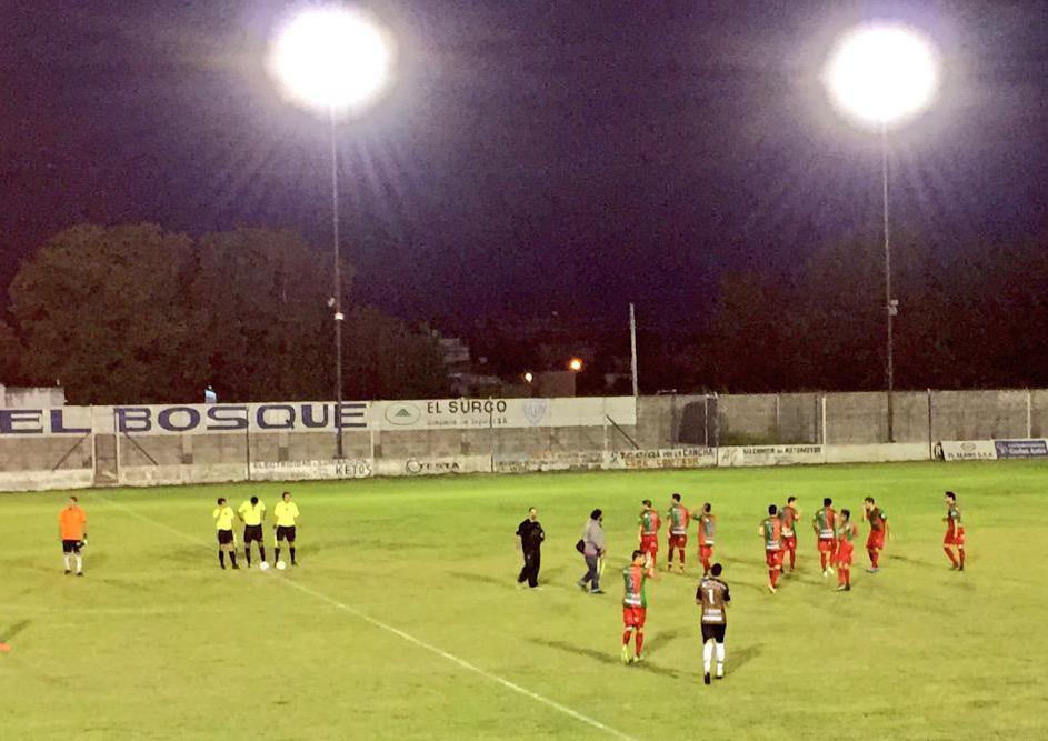 Círculo Deportivo en su salida a Junín. (Foto: Twitter @clubcirculo)