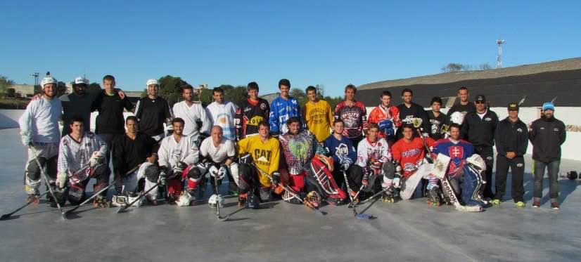 Los jugadores que participaron en la concentración nacional.