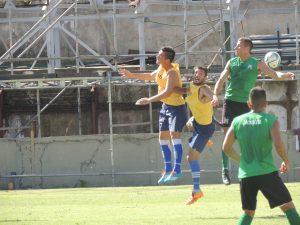 Imagen del partido disputado esta tarde.