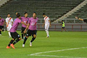 Nicolás Castro grita el gol que abrió el marcador. (Foto: Pedro Celano)