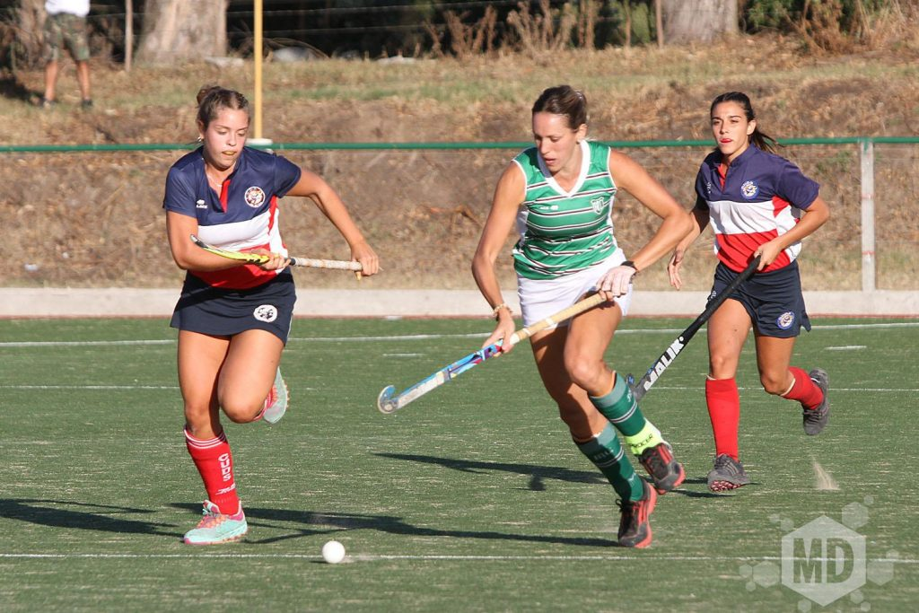 Victoria Zuloaga fue la encargada de empatar el partido entre Mar del Plata Club y CUDS. (Foto: Carlos De Vita)
