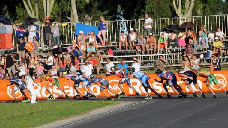 El Patinódromo Roberto Tagliabué durante el mundial de Rosario el año pasado.
