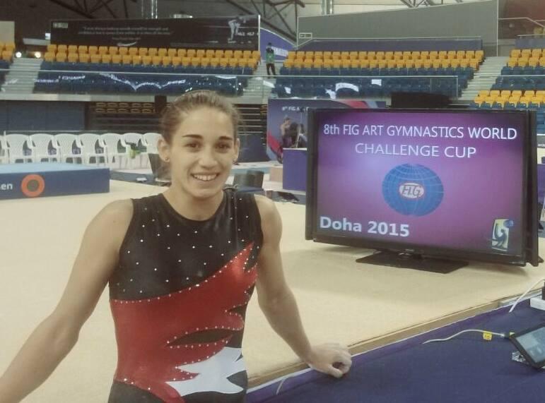 EN UN GRAN NIVEL. Ayelédan Tarabini lista para lo mejor en las finales en Doha, Qatar. (Foto: Facebook)