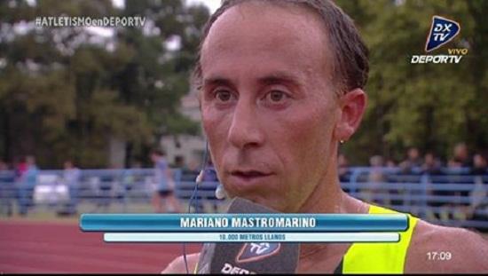 Mariano Mastromarino después de consagrarse campeón en la transmisión oficial.
