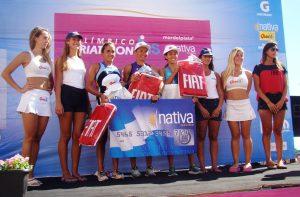 Podio femenino del Triatlón Olímpico.