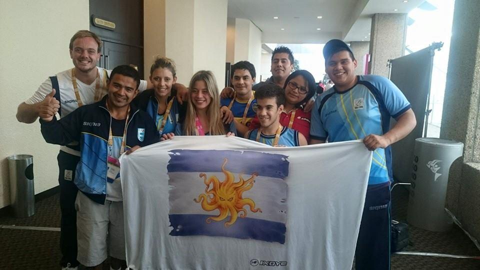 La delegación argentina que participó con éxito en México.