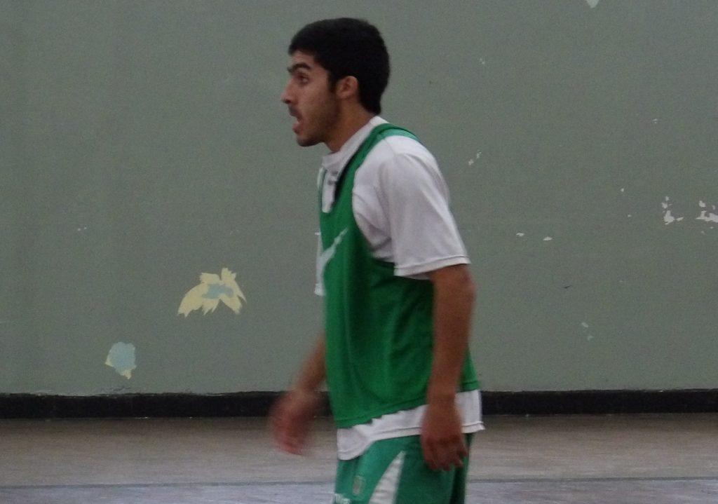 Diego Ramírez en el entrenamiento de hoy.