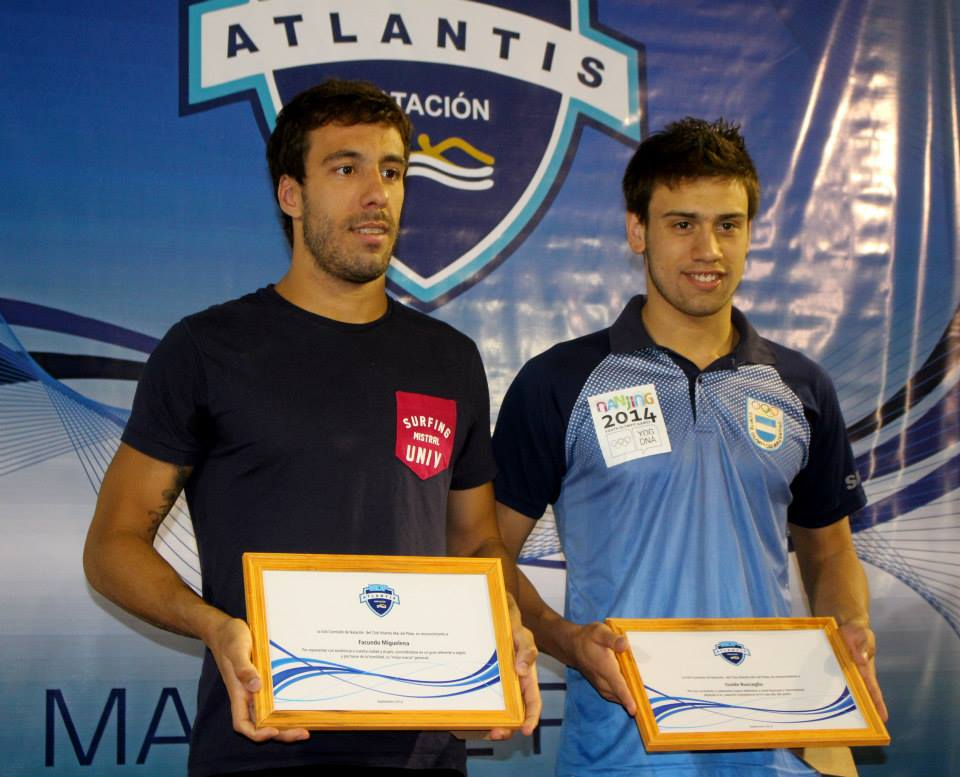 Facundo Miguelena y Guido Buscaglia, obtuvieron hoy el récord argentino en 4x50 libres.
