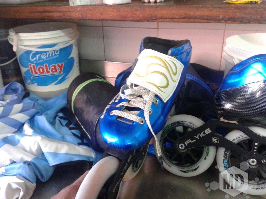 Imagen de los patines recuperados de Ken Kuwada.
