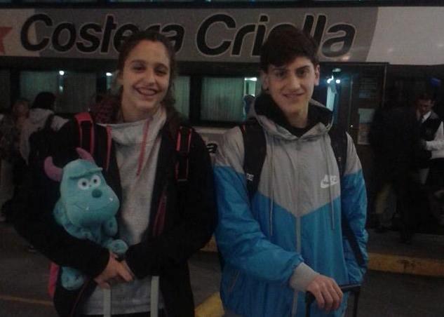 Malena Rolandi y Nicolás Hernández.
