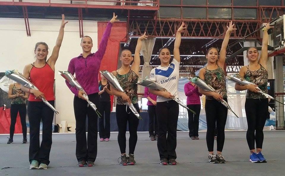 EQUIPO. Estas son las gimnastas que integran la selección argentina que viajará a Toronto.