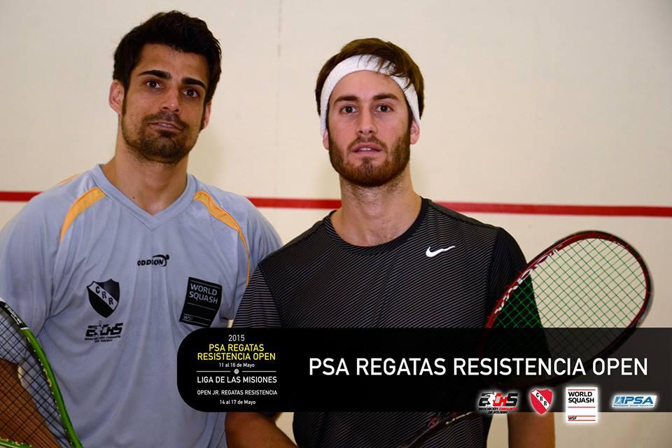 PREPARADOS. Leandro Romiglio previo a jugar la final con  Shawn Delierre  .