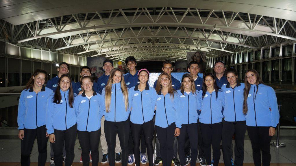 La Selección Juvenil Argentina antes de partir a Cali.