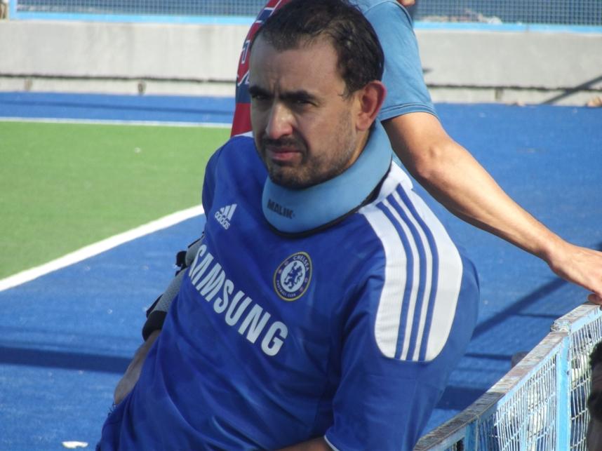 Walter Vázquez la figura en el empate de MDQ 06 Hockey Club.