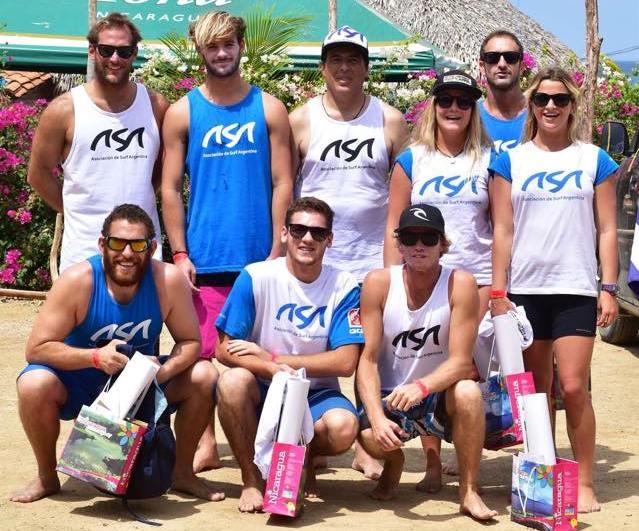 Todos los representantes argentinos en los ISA World Surfing Games.