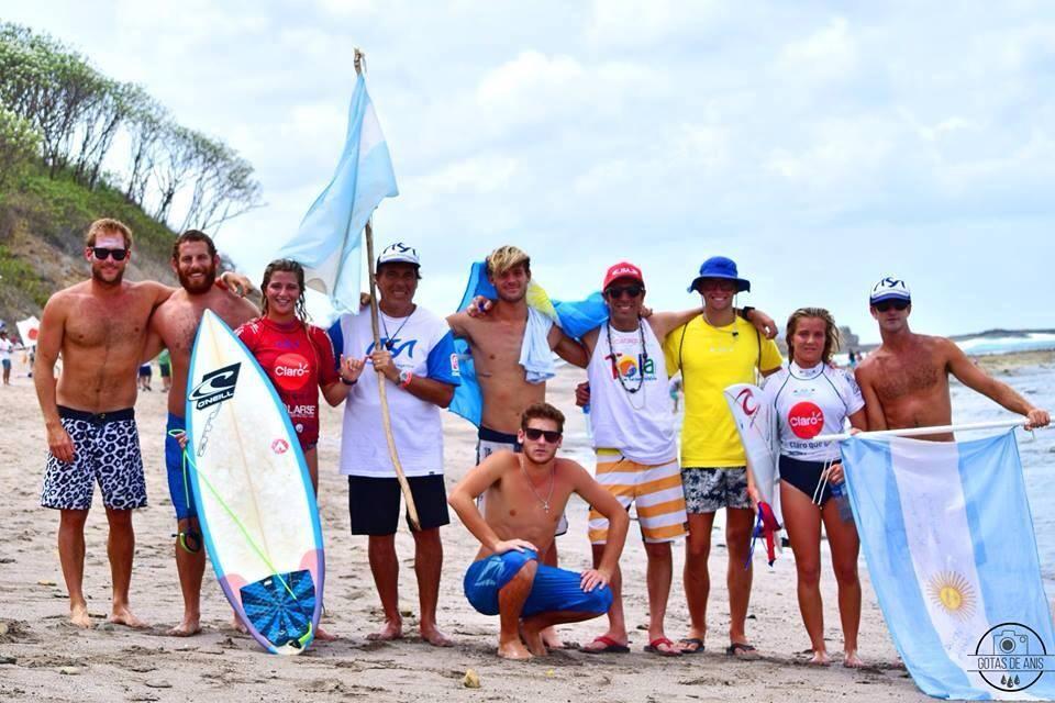 El equipo argentino de surf que tuvo una buena performance en Popoyo.