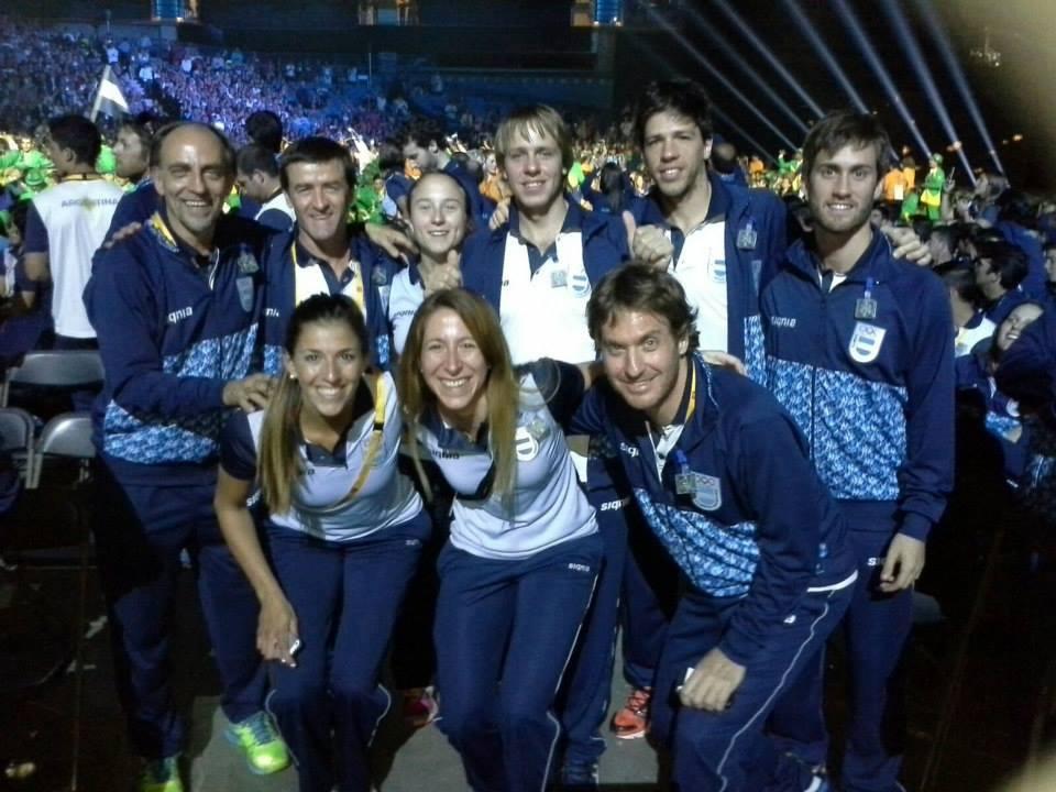 El equipo argentino de squash compite en ambas ramas buscando las medallas.