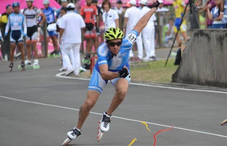 Ezequiel Capellano hoy compitió en contrarreloj. (Foto: RuedaPatin.com)