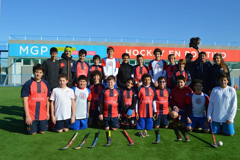 Los equipos de MDQ 06 HC que participaron en el triangular.