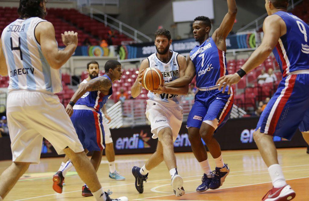 El marplatense Patricio Garino en el partido de hoy. (Foto: José Jiménez Tirado/FIBA Americas)
