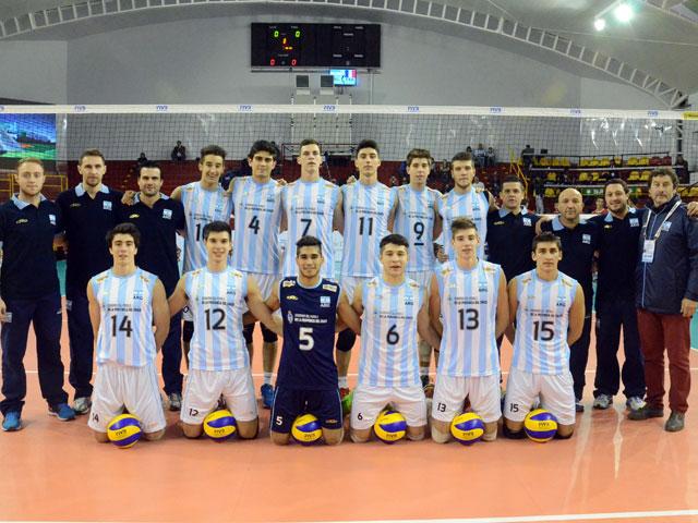 El equipo argentino Sub-19 con Ignacio Roberts