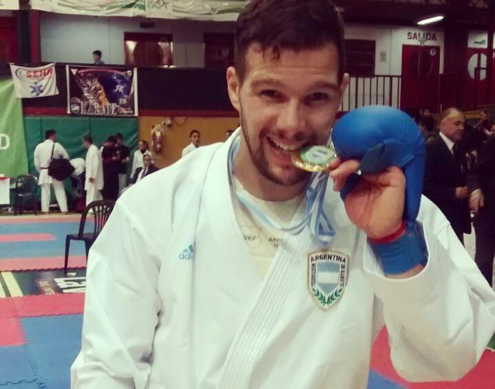 El marplatense Francisco Nievas volvió a colgarse una medalla de oro.