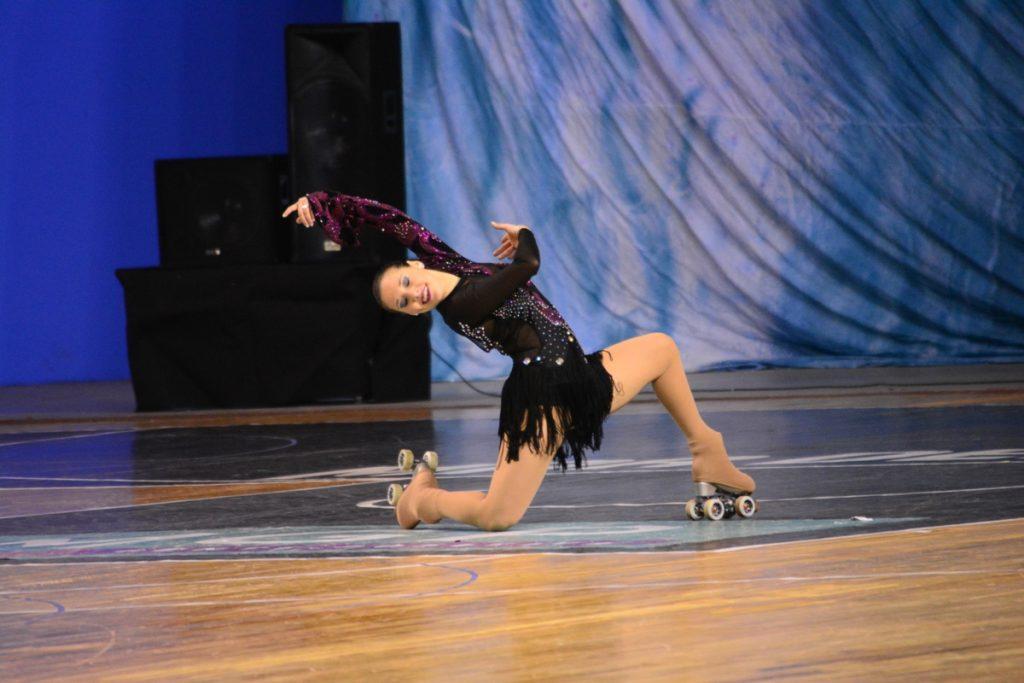 Nadia Ortiz Villar en el cierre de su coreografía.