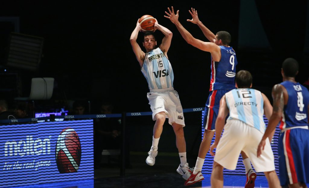 Selem Safar fue titular esta tarde (Foto: FIBA)
